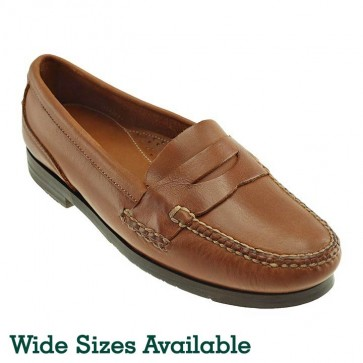 Tan Marco Leather Penny Loafer