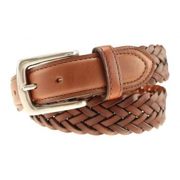Tan Maxwell Braided Leather Belt