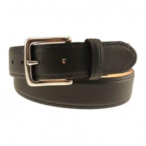 Black Colombia Leather Dress Belt