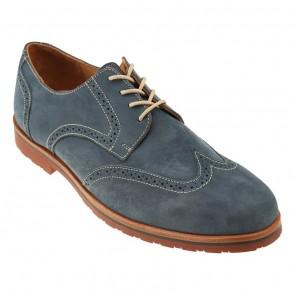Navy Blue Reggie Wingtip Shoes