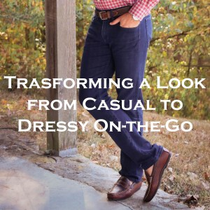 Transforming a Look from Casual to Dressy On-the-Go