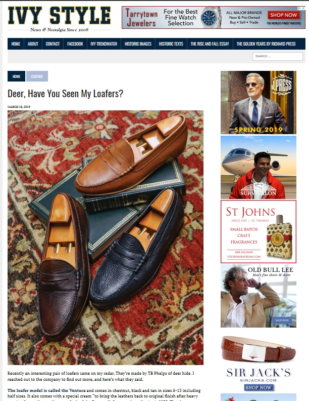 Ivy Style Deerskin Loafers Page